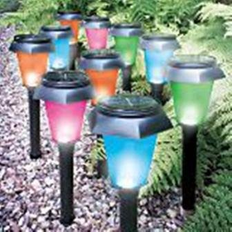 4 PACK COLOUR CHANGING SOLAR GARDEN LIGHTS Amazoncouk Garden