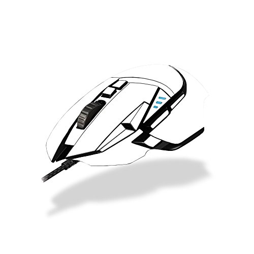 MightySkins Skin Logitech G502 Proteus Spectrum Gaming Mouse - Solid White | Protective, Durable Unique Vinyl Decal wrap Cover | Easy to Apply, Remove Change Styles | Made in The USA