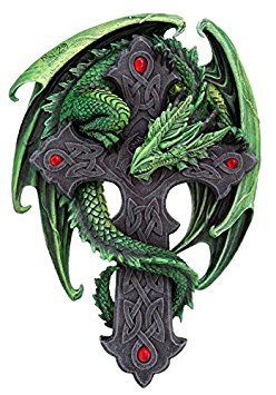9.06 Inch Woodland Guardian Dragon Wall Plaque Statue Figurine (Plaque Wall Dragon)