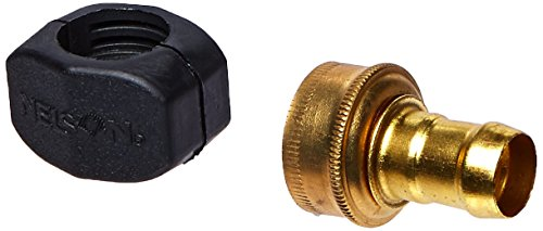 (Nelson 50431 5/8-Inch and 3/4-Inch Hose Repair Clamp, Brass/Nylon, Female)