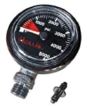 Hollis New Heavy Duty Brass SPG Submersible Pressure Gauge w/o Boot/Hose (PSI)