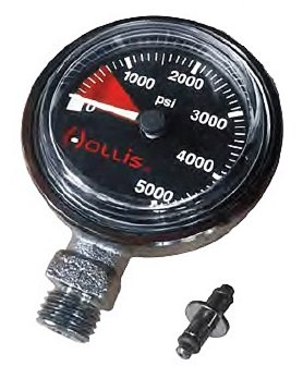 Hollis New Heavy Duty Brass SPG Submersible Pressure Gauge with 42 Inch Hose (PSI)
