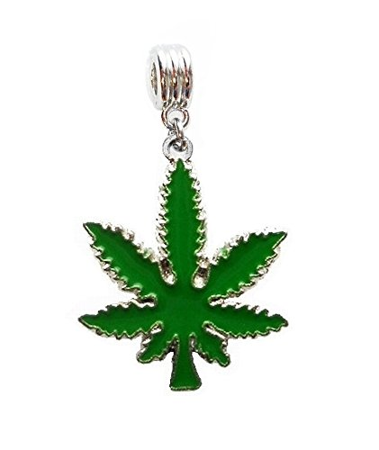 POT LEAF WEED CANNABIS MARIJUANA CHARM PENDANT ADD TO NECKLACE CLOTHING DOG CAT PET COLLAR KEYCHAIN ETC