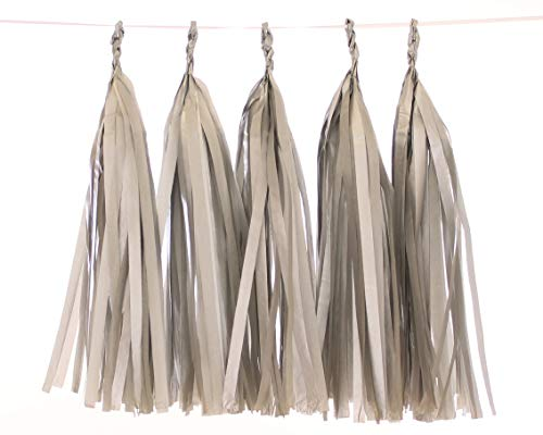5 Piece Tissue Paper Tassel Garland DIY Kit (silver)