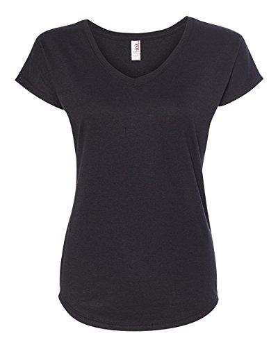 Anvil Ladies Triblend V-Neck T-Shirt. 6750VL Black XL