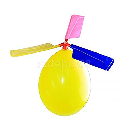 10x CLASSIC BALLOON HELICOPTER PARTY BAG POCKET MONEY GIFT NOVELTY KIDS TOY by uptogethertek