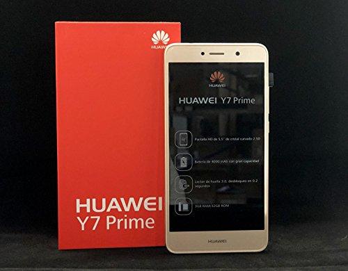 Huawei Y7 Prime (TRT-L53) 3GB/32GB 5.5-inches Dual SIM Factory Unlocked - International Version - No Warranty (Prestige Gold)