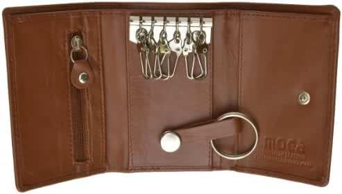 New Fine Chowhide Leather Keychain Wallet MOGA #90312