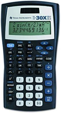 Texas Instruments TI-30X IIS 2-Line Scientific Calculator, Black with Blue Accents (5, Black)