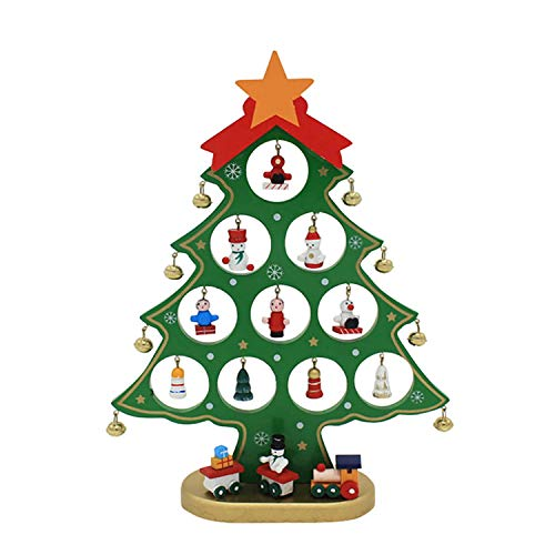 Fun DIY Wooden Christmas Trees Festival Party Xmas Tree Table Desk Decoration Children Christmas]()