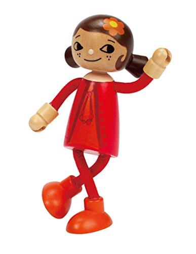 Hape E3506 Modern Family Mom Doll, Wooden, 5.8 X 3.5 X 11.7-Inches, ()