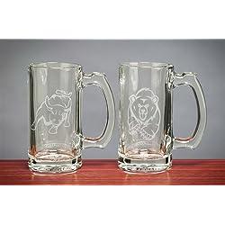 Stock Market Bull & Bear Beer Mugs 12.5 Oz - Stock Market