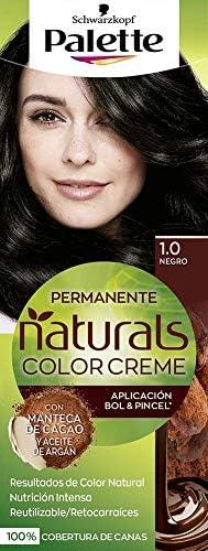 Palette Palette Natural Tinte #1.0-Black 110 ml: Amazon.es ...