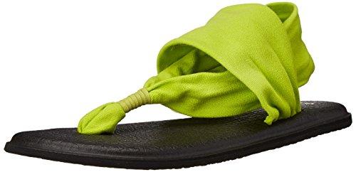 Sanuk Womens W Yoga Sling 2 Flip Flop Citron 7 M US