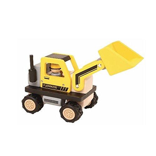 NJoyKids 15013 Radlader gelb Bulldozer f/ür die Baustelle