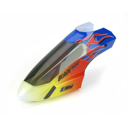 E-Flite Body/Canopy, Flame with Decals: Blade 400