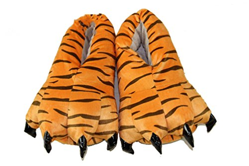 Claw Machine Costumes (Meledy 2017 Cosplay Costumes Pajamas Unisex Shoes Cartoon Paw Claws Shoes Animal Slipper Tiger Size S)