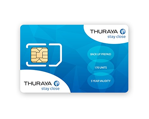 Thuraya Satellite Phone Prepaid Backup SIM with 170 Units Valid for 5 Years