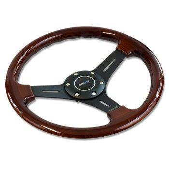 Nrg 330mm Deep Dish Steering Wheel Classic Wood Grain 3