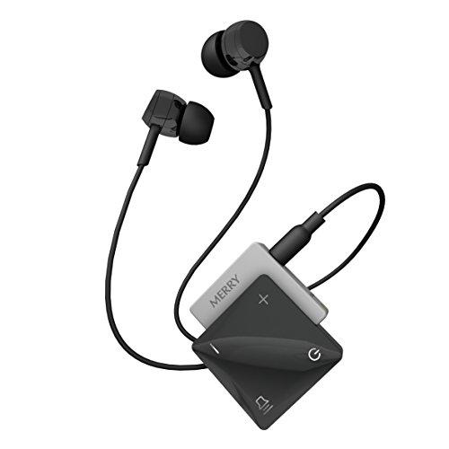 ME-300D Concerto Personal Sound Amplifier - Premium Lightweight Hearing Amplifier with Rechargeable Batteries, Earphones - 4 Channels - Noise Reduction - Personal Hearing Enhancement (Black)