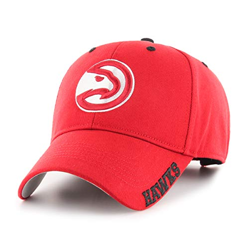 OTS NBA Atlanta Hawks Male Blight All-Star Adjustable Hat, Red, One Size