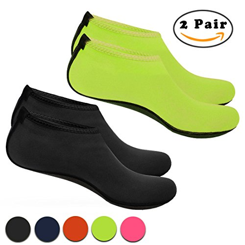 Nlife Barefoot Water Shoes Aqua Socks Sand Socks For Beach Surf Pool Swim Yoga Aerobics (Men & Women, M ¡§CXXXL, 1Pair)