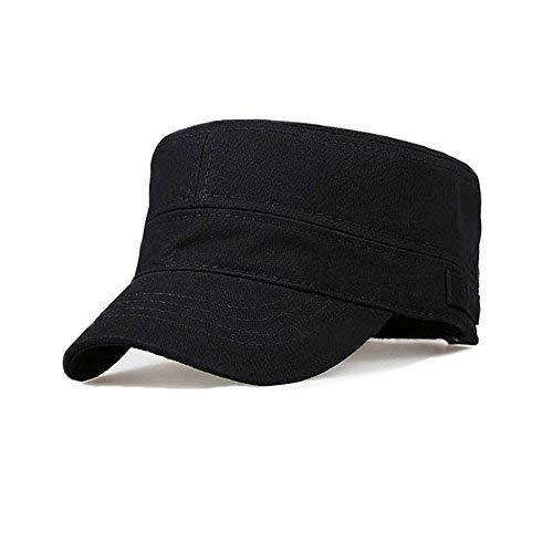 Fasbys Cotton Flat Top Peaked Baseball Twill Army Millitary Corps Hat Cap Visor (Black) ()