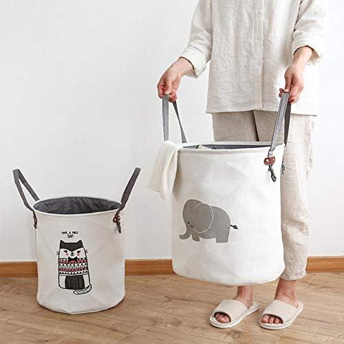 yibuf Joyeux Mignon Animal Panier À Linge Pliant Jouet Pique-Nique De Stockage Sale Vêtements Panier Coton Boîte À Laver Vêtements Bébé Organisateur-2_Italie