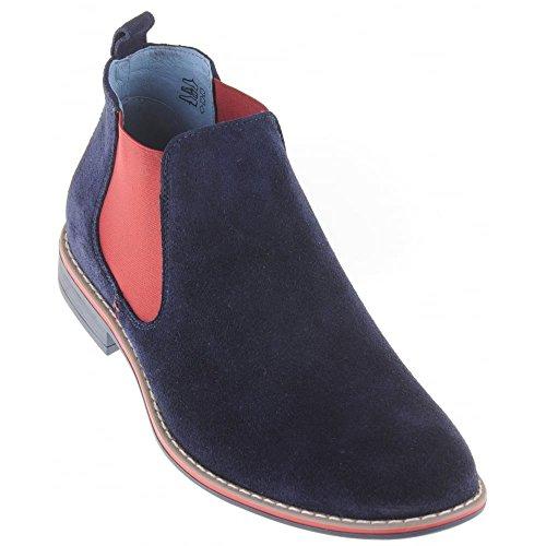 Bleu Marine Chelsea Boots homme Lacuzzo TwUPatqq