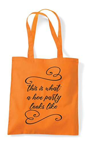 Customised Do A What Looks Party Tote Shopper Hen Like Natural This Is Personalised Bag zw4Wqn5A