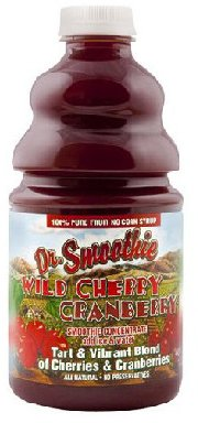 Fruit Smoothie Crushed (Dr. Smoothie 100% Crushed Fruit Smoothie, Wild Cherry Cranberry 46-Ounce Bottles (Pack of 2))