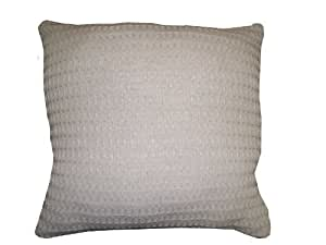 Cozy Fleece - Santa Barbara Waffle Weave Pillow, Gray by Cozy Fleece