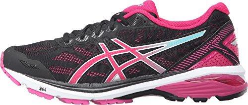 ASICS Women's GT-1000 5 Black/Sport Pink/Blue Sneaker 9.5 B (M) T6A8N.9019