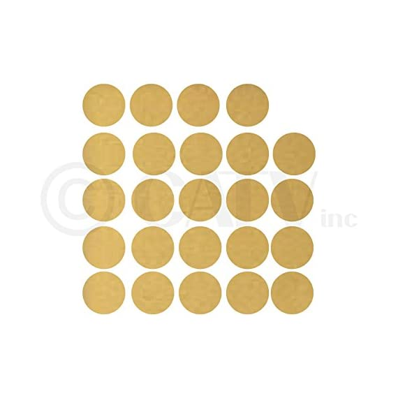 """6x6 Set of 24 Polka Dot Circles vinyl lettering decal home decor wall art saying (Gold) - Each dot measures 6"""" H x 6"""" W Made from top of the line Oracal 631 Self Adhesive Vinyl - Transfer Tape Application instructions are included with each order, along with a technical support phone number and links to YouTube installation videos - living-room-decor, living-room, home-decor - 41H09WjnobL. SS570  -"""