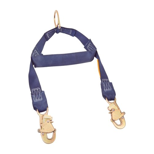 (3M DBI-SALA 1231460 Rescue/Retrieval Y-Lanyard, 2' with Spreader Bar, D-Ring At Center and Snap Hooks At Leg Ends, Navy)
