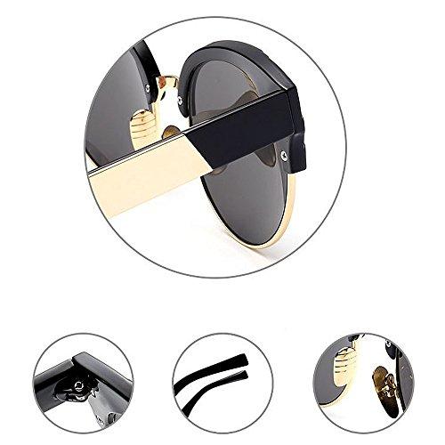 de al Aire UV Unisex Libre Color con de Lente sin C2 Semi Gu Gafas Color Montura C6 Sol Protección Peggy Conducción Viajar vaqwYEZv