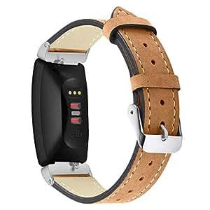 Correa de Cuero Compatible con Fitbit Inspire/Inspire HR Correa de ...