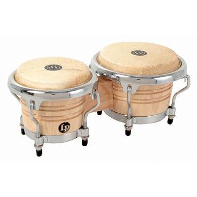 LPM199-AW LPMC Mini Tunable Natural Wood Bongos from Latin Percussion