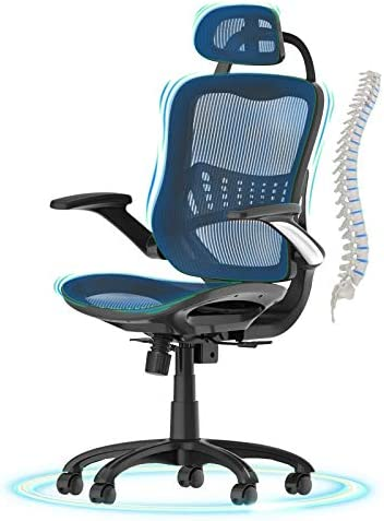 Office Chair Ergonomic Desk Chair,Komene High Back Adjustable Headrest Computer Chair Breathable Mesh Executive Chair