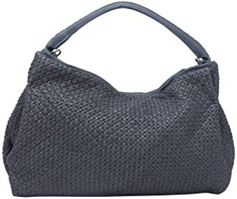 Luxury Fashion | Reptile's House Woman H565V48004 Blue Leather Tote | Spring Summer 20