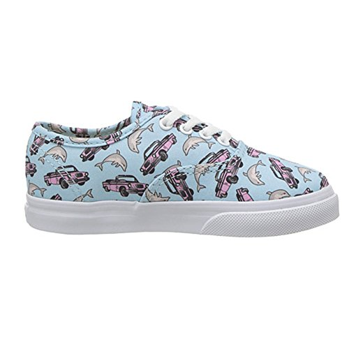 Vans Authentic (Spring Multi) Fashion Sneaker Crystal Blue/True White Size 5 Toddler - Baby Sneakers Vans