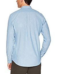 Brand - Camisa de cambray de manga larga de corte estándar Goodthreads para hombre