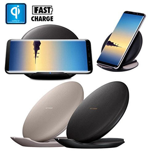 For Samsung Galaxy Note 8/S8 / S8 Plus, Mchoice Qi Fast Wireless Charger Rapid Charging Stand