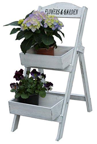 Blumentreppen Regal Blumentreppe Leiterregal Pflanzenregal Blumenregal Holz (2 Ebenen)