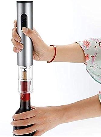 KJST Cavatappi Apribottiglie Sacacorchos Sacacorchos Vinobuymore Sacacorchos Abrebotellas Eléctrico De Vino Abridor Eléctrico Abridor De Vino Abridor De Botellas De Vino Azul Eléctrico-Plata