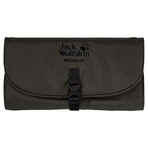 Jack Wolfskin Waschsalon Roll-up Wash Bag Toiletry Bag Dopp Kit with Mirror Pinewood ()