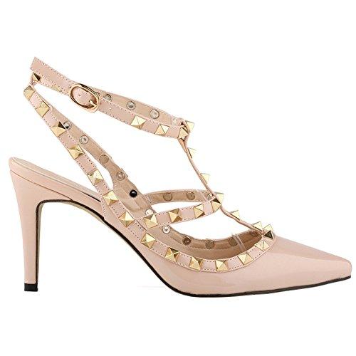 Loslandifen Ladies High Heels Party Wedding Count Pump Shoes(NX952-3PA-xing-42)
