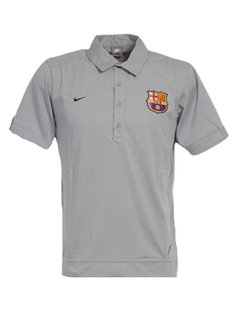 Nike - Barcelona Polo Gris 07/08 Hombre Color: Gris Talla: S ...