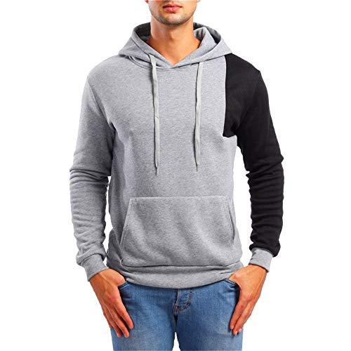 r EcoSmart Fleece Hooded SweatShirt Heavy Blend Adult Hooded SweatShirt Cheap Deals(Grey,XL) ()