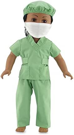 Emily Rose 18 Inch Dolls Clothes Hospital Doctor Nurse Scrubs Outfit | Clothing Fits 18